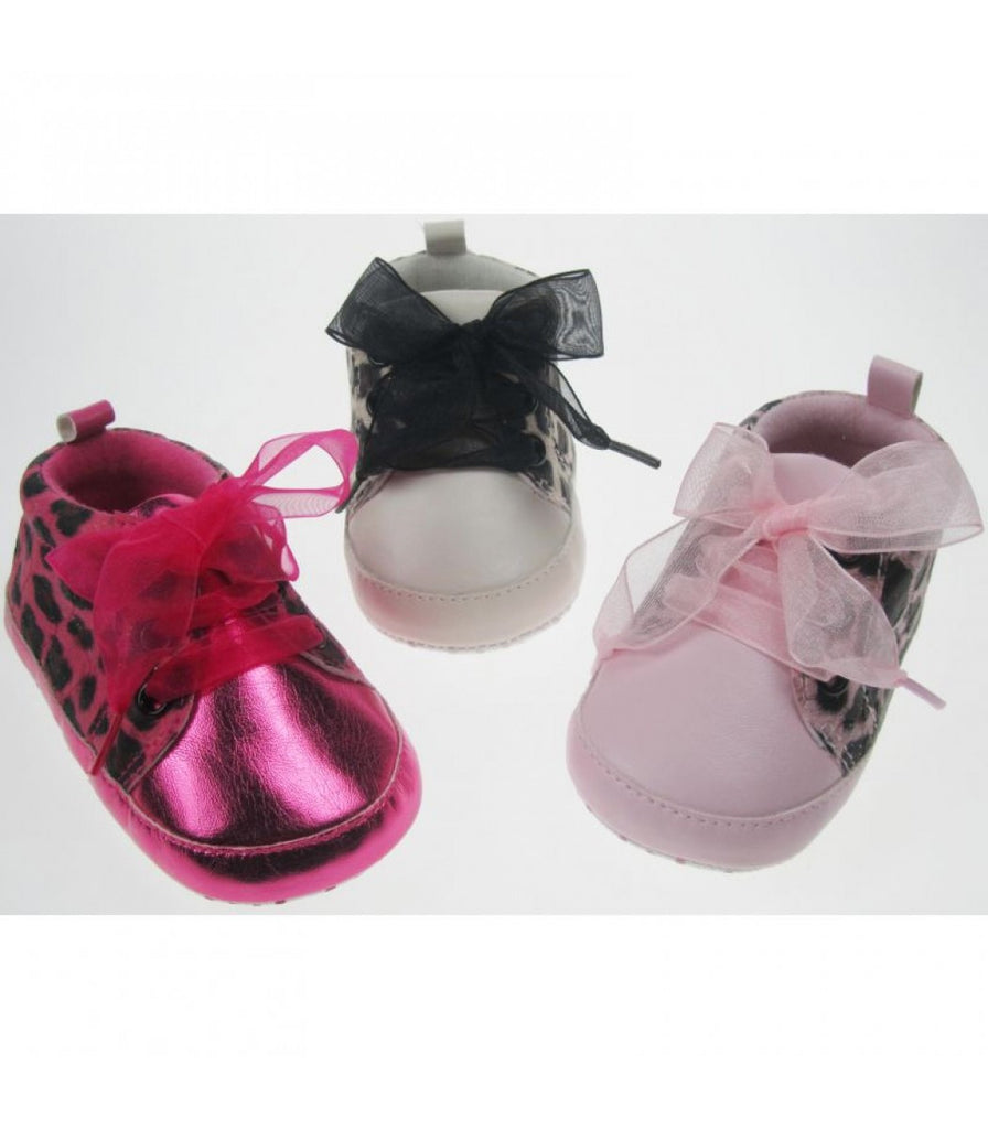 INFANT SHOES-GIRLS ANIMAL PRINT