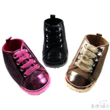 Girls Shiny Net Trainers
