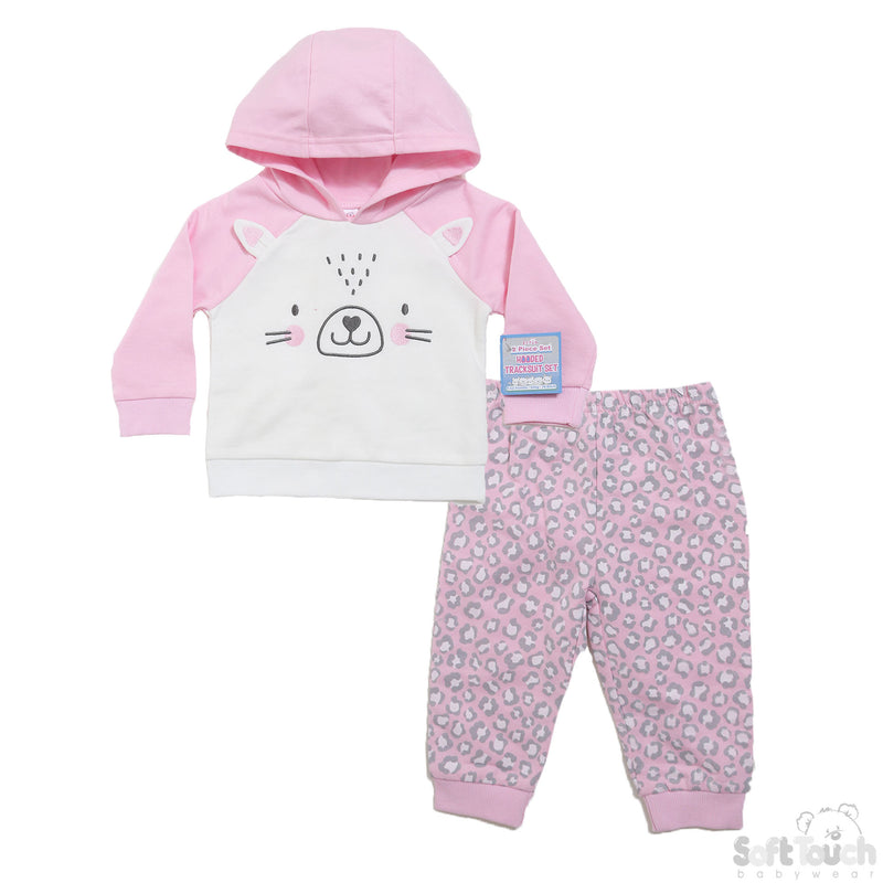PINK 2 PIECE HOODED TRACKSUIT SET (6 To 18 Months) BG305