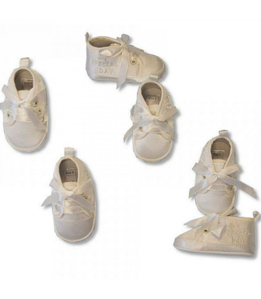 BABY CHRISTENING SHOES - BOYS - CREAM