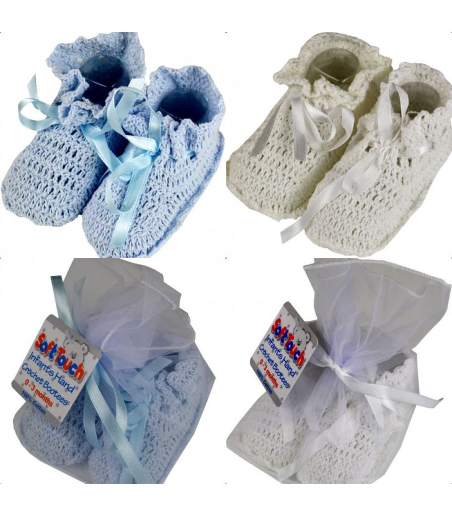 INFANTS HAND CROCHET BOOTEES