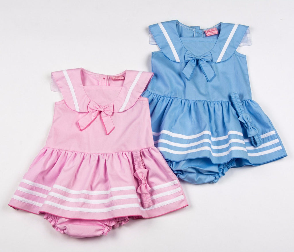 Sailor Line Dress, Pant & Headband 12-24 Months (F3559)