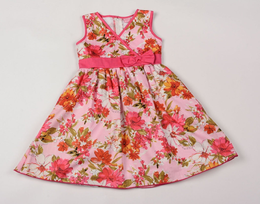Girls Flower Painting Style Dress 3-8 years (F5564)