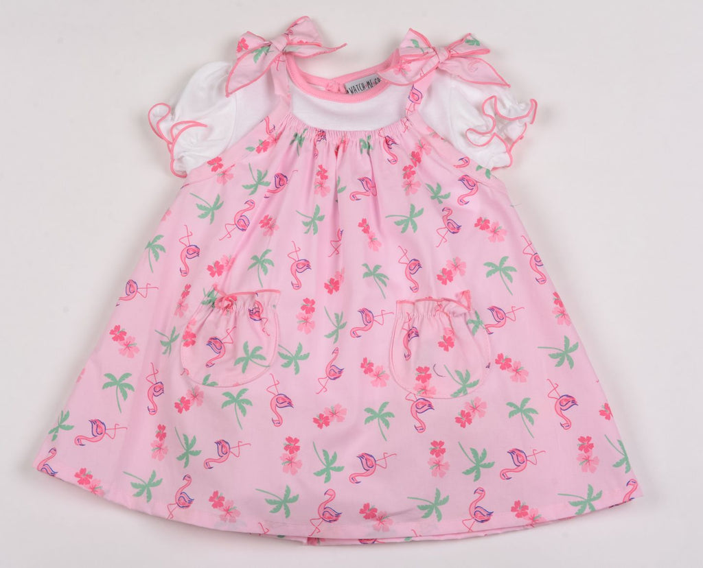 Baby Girls Dress & T-Shirt - Flamingo - 1-2 Years (G3227)