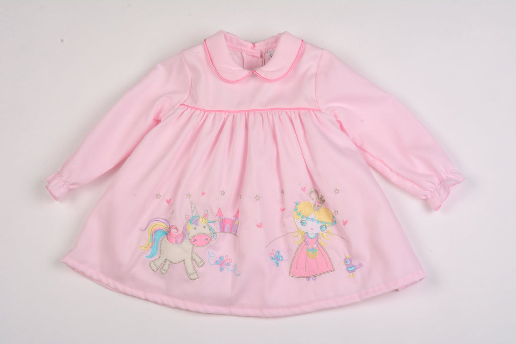 Baby Girls Lined Corduroy Dress - Magic Kingdom - 12/24M (K3517)