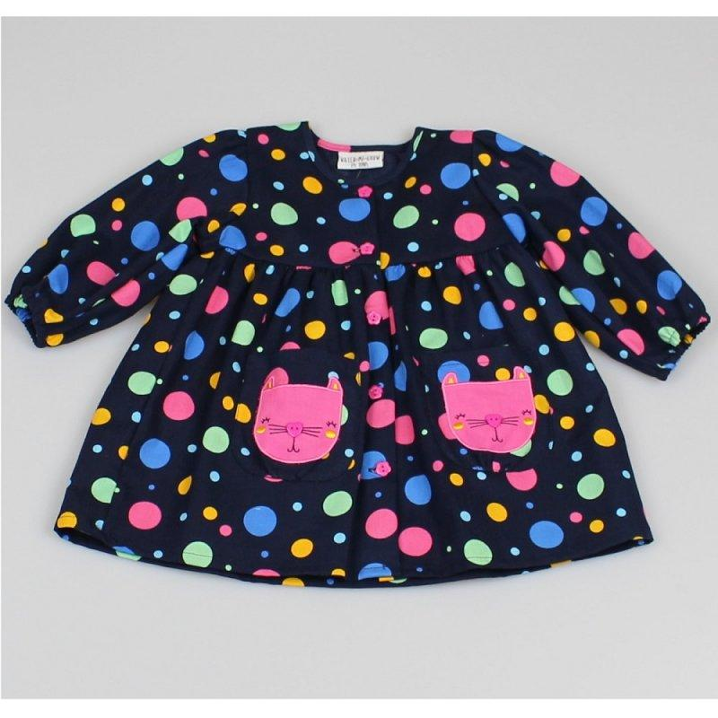 Polka Dot DRESS - Cute Cat (12-24 MONTHS) M3505