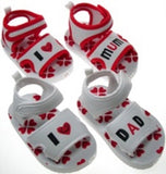 Love Mum/Dad Velcro Fastener Sandals