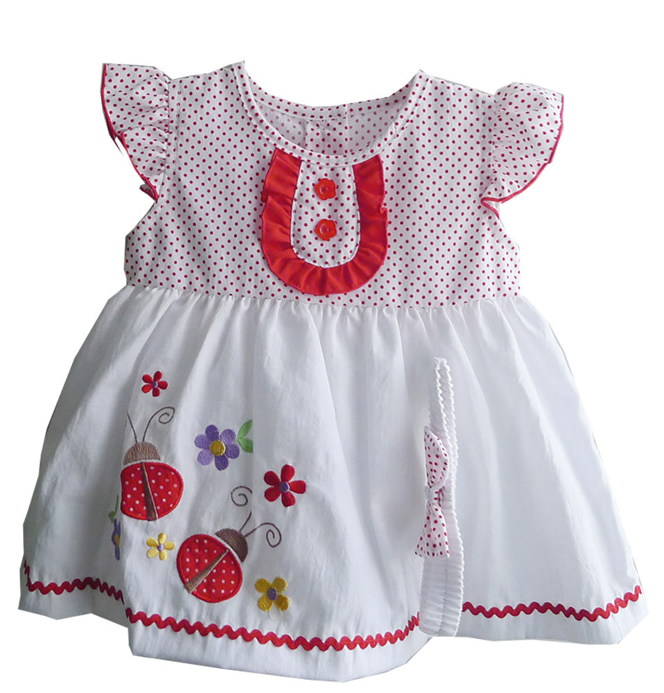Ladybird Embroidered Polka Dots