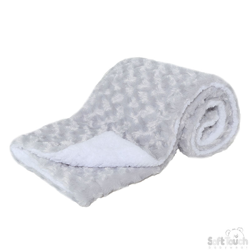 Deluxe Grey Rose Mink Wrap: FBP30-G