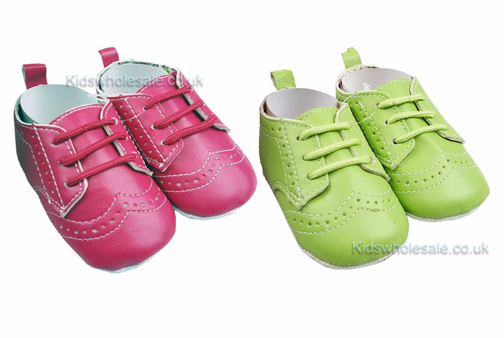 Girls Pink and Green Shoes 0-12m (G8615)