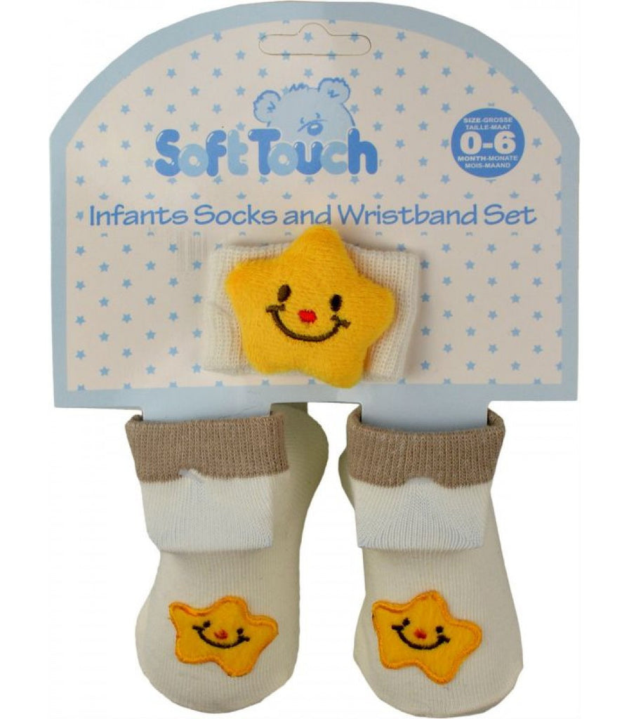INFANTS SOCKS AND WRISTBAND SET