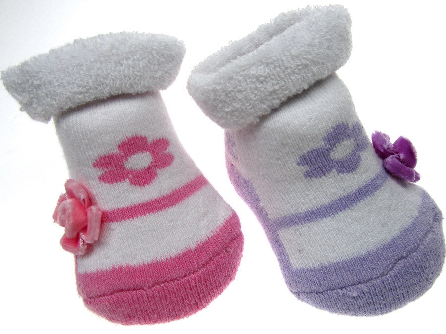 Girls Pink Gift Booties