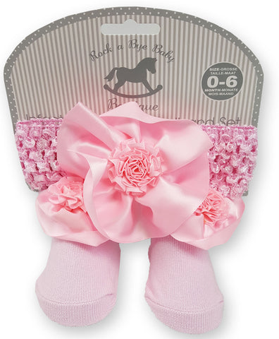 Baby Girls Dress W/Headband - Roses - 0-9 Months (P16517A) NEW