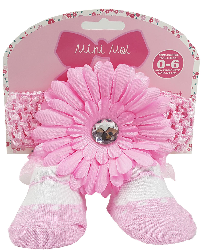 Baby Girls Socks and Headband Set-h9250
