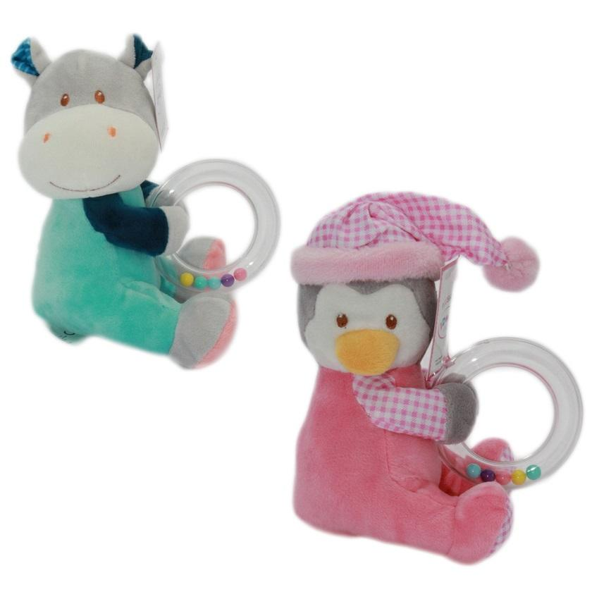 "6""Inch Animals With Ring Teether (2 Styles) - Age 0+ (ID0629)"