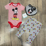 BABY DISNEY 'MICKEY MOUSE' ROMPER SET (0-12 MONTHS) S19108