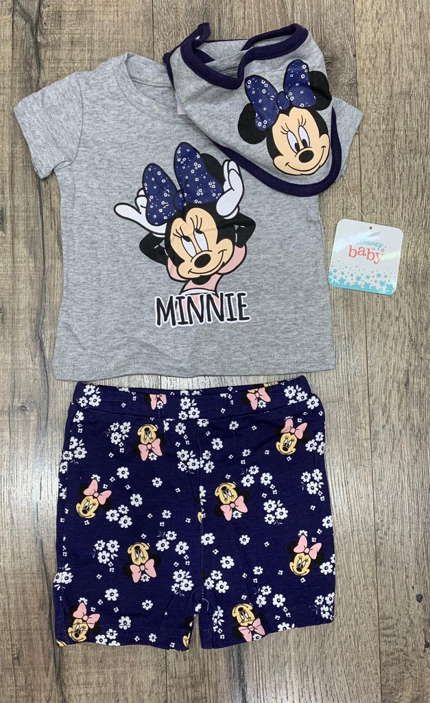 BABY DISNEY 'MINNIE MOUSE' LOUNGE-WEAR SHORTS SET (0-12 MONTHS) S19110