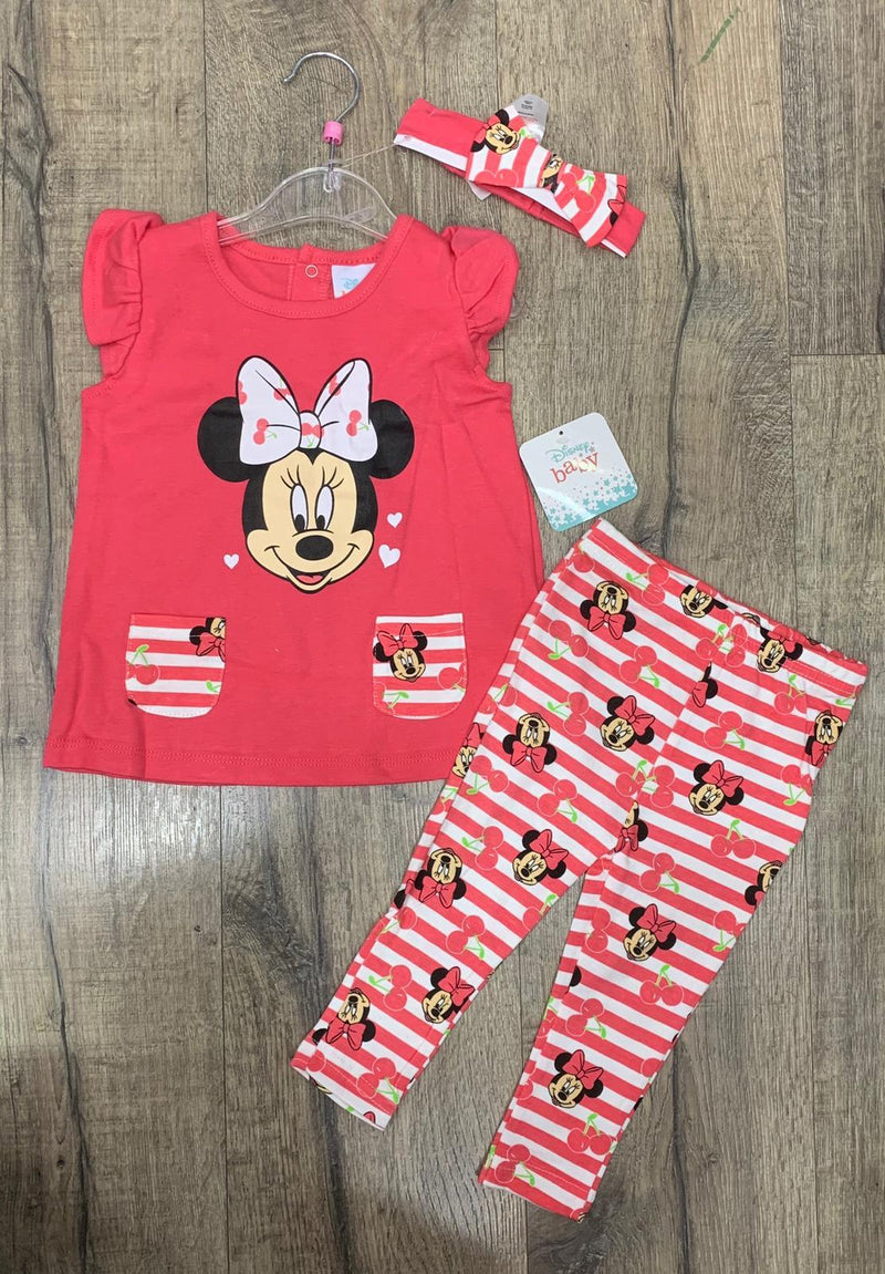 BABY DISNEY 'MINNIE MOUSE' LEGGINGS SET (3-24 MONTHS) S19105 - Kidswholesale.co.uk