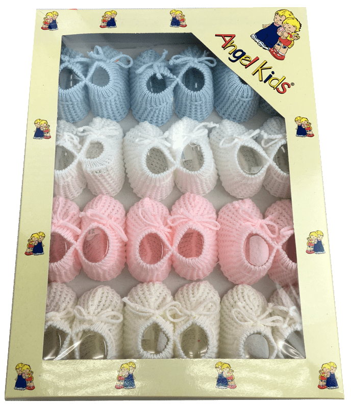 Baby Bootees Assorted in a Box 1258