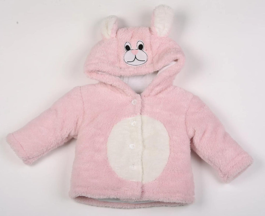 Baby Bunny Coral Fleece Padded Jacket - 3-12 Months (K2554)