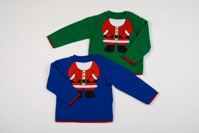 Baby Christmas Jumper - Santa - 12-24 Months (K3589) - Kidswholesale.co.uk