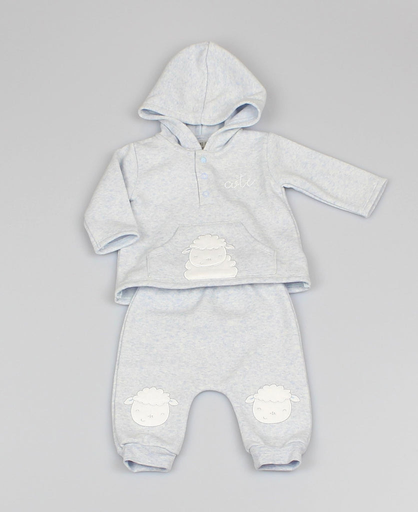 Baby Boys 2pc Hoody/Trouser set - Sheep (0-9Months) M1411