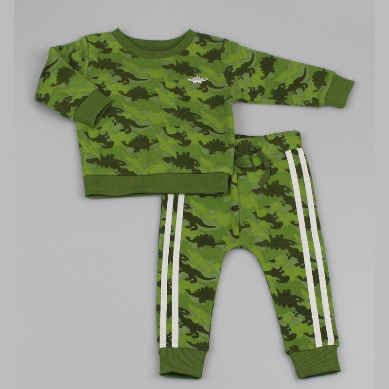 Boys Track/Jog Pant set - Dinosaur Camo (12-24M) M3479 - Kidswholesale.co.uk