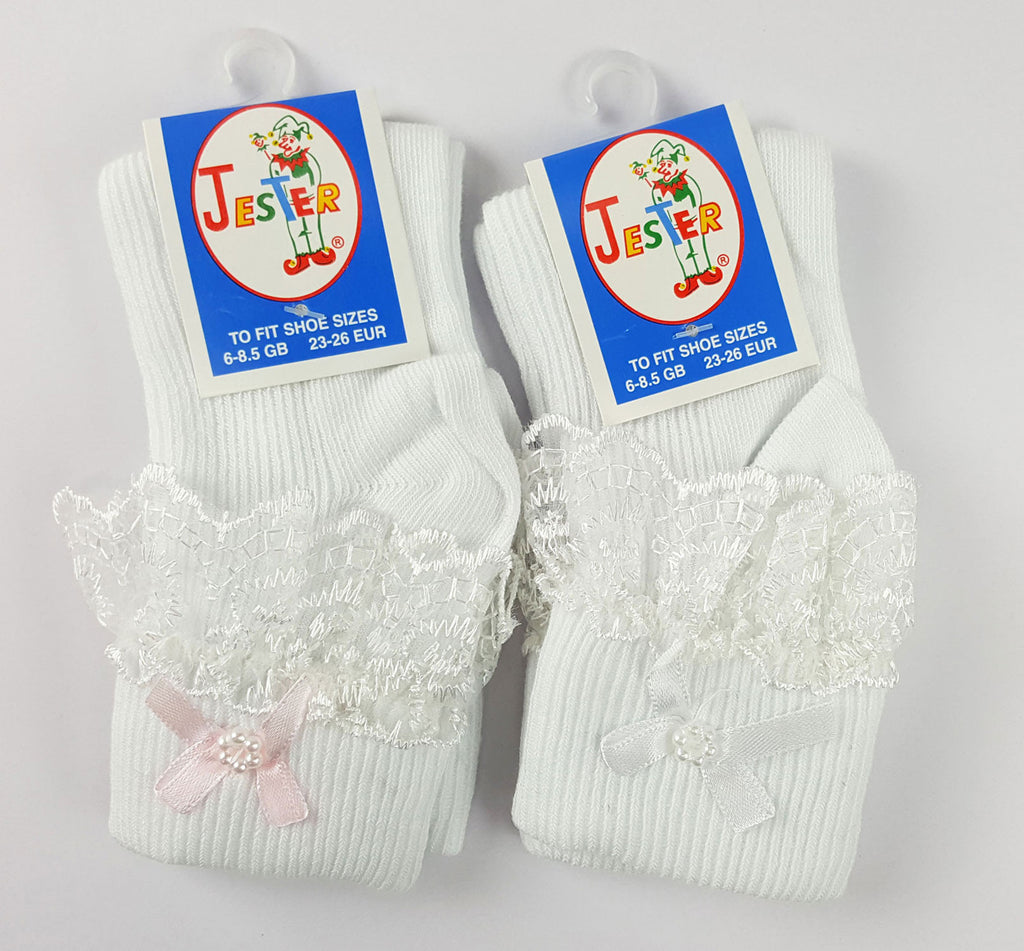 Jester Frill Socks with Embellishments