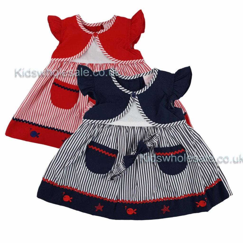 Girls Dress Cardi with Pockets (K12043A)