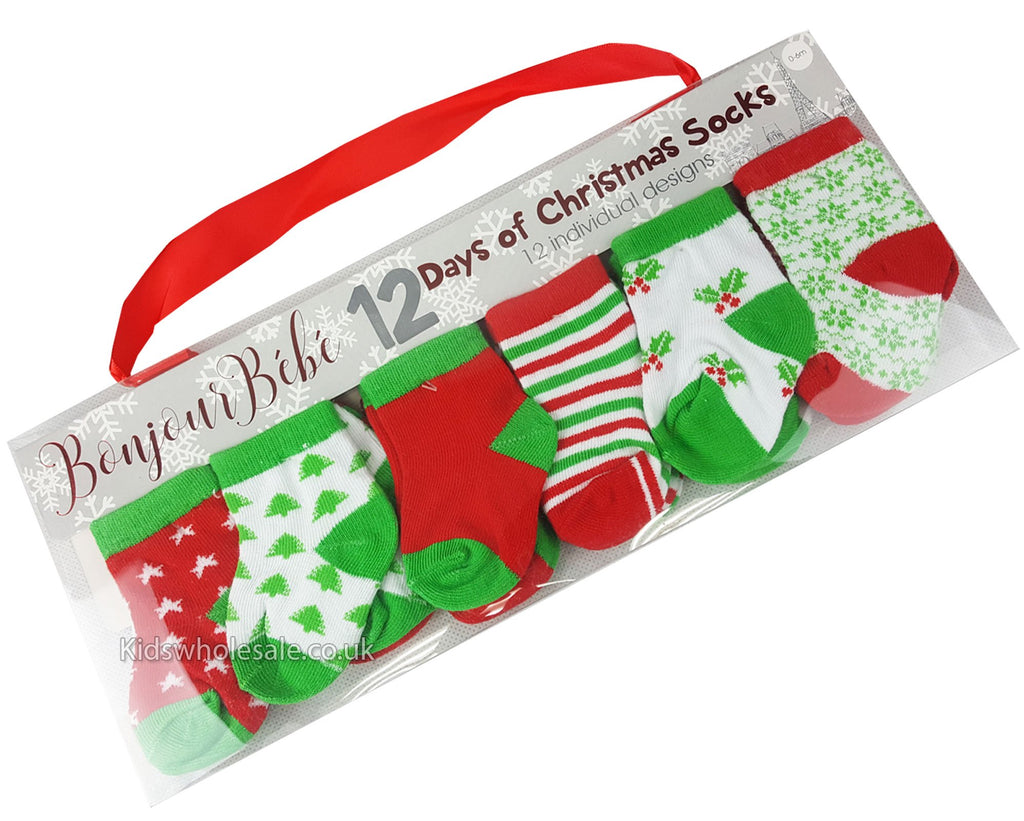 baby 12 days of christmas socks 0 6 months m14081