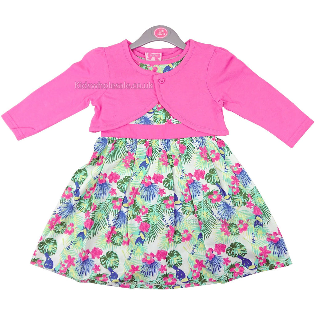 Baby Girls Dress & Bolero Set - Flowers - 6/24M (M14567)