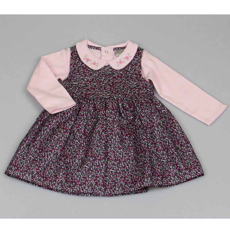 LINED FLORAL DRESS & TOP SET (12-24 MONTHS) M3440 - Kidswholesale.co.uk