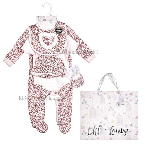 Baby 3Pc Layette Gift Set - Hot Air Balloon - 0-9 Months (G1390)