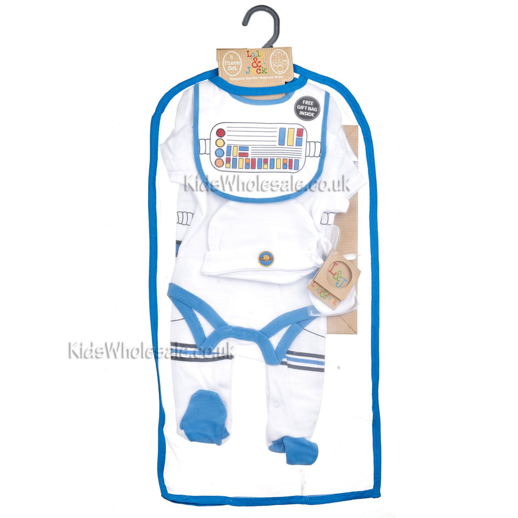 Baby Boys 6Pc Net Bag Gift Set - Little Astronaut - NB-6 Months (N15177)