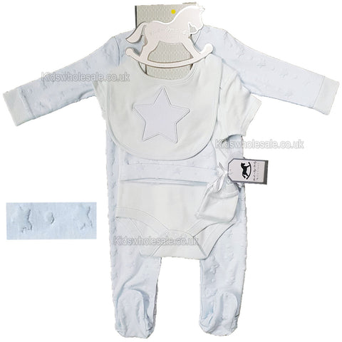 Baby Boys 2pc Romper Shorts Set - 0-12 M (M14574)