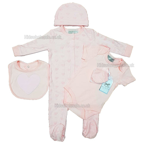 Baby Girls Velour Dungaree & Floral Top Set (0-9 Months)(j10046)