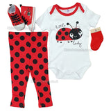 NEW Baby Girls 4pc Trourser Set W/Shoes - Little Lady - 0/12M - (P16235)
