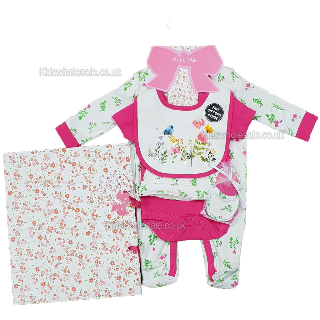 Baby 6pc Net Bag Gift Set - Pretty Things - NB-6 Months (P16310)