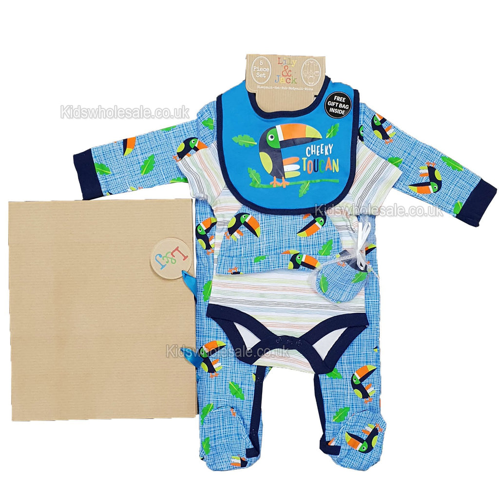 Baby 6pc Net Bag Gift Set - Toucan - NB-6 Months (P16359)