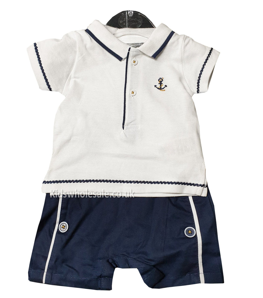 Boys Polo & Shorts Set with embroidery (0-9 months) P16370