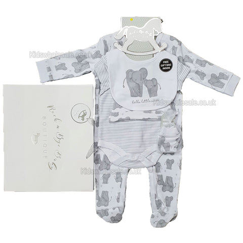 Baby Boy 7Pc Net Bag Gift Set - Teddy - NB-6 Months (M14131)