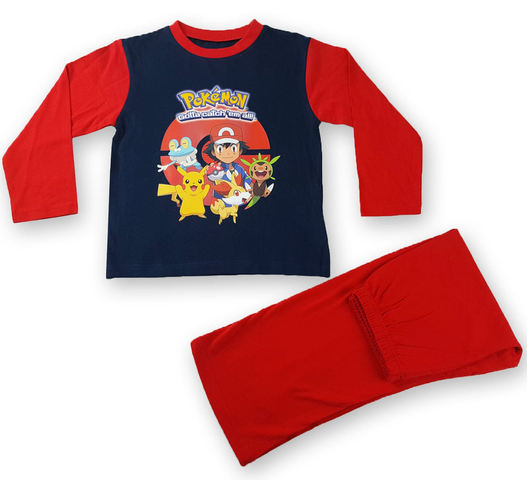 BOYS OLDER POKEMON L/L PYJAMAS RED Unit Price:£3.85