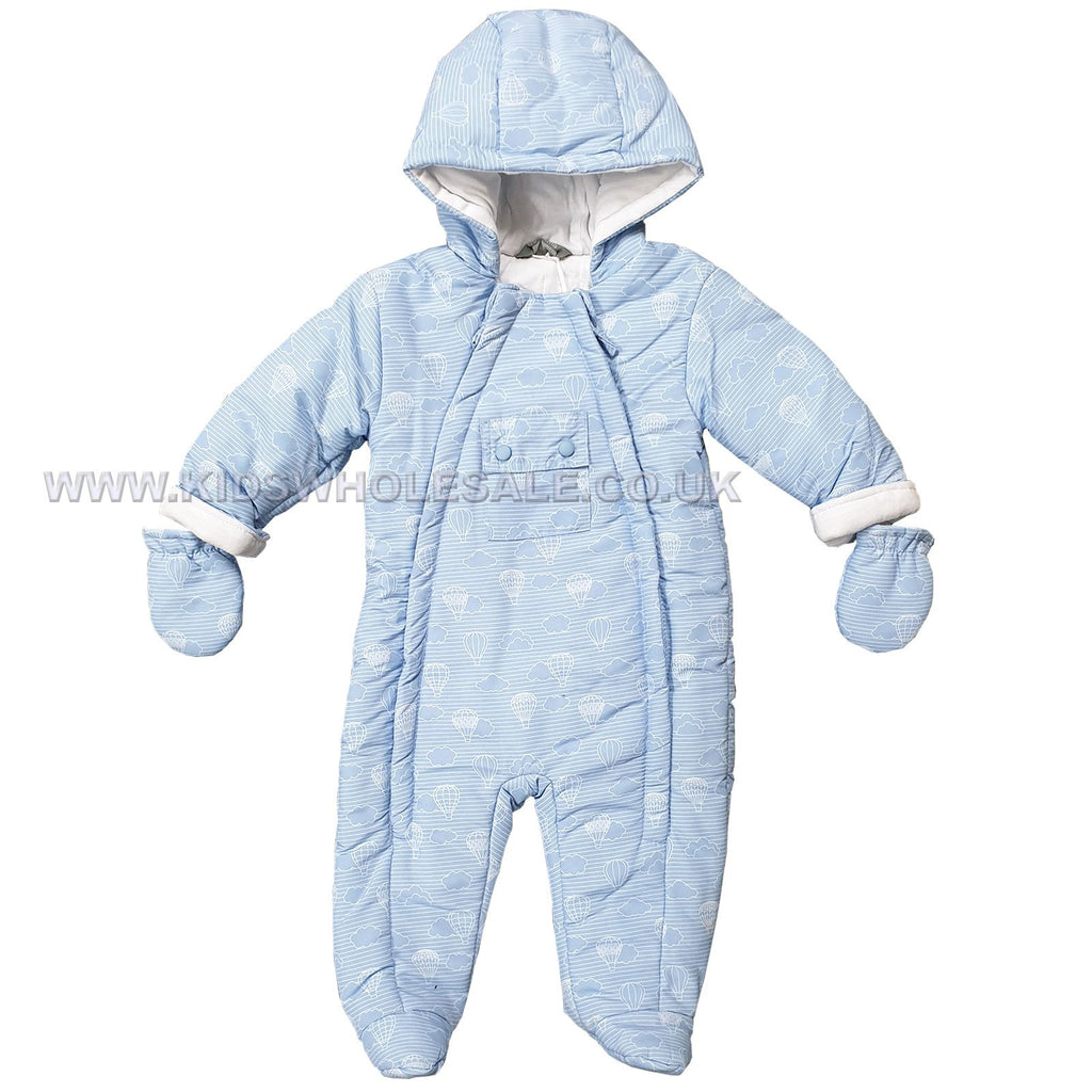 Baby Boys Padded Snowsuit - Hot Air Balloon - 0-12M (Q17089)