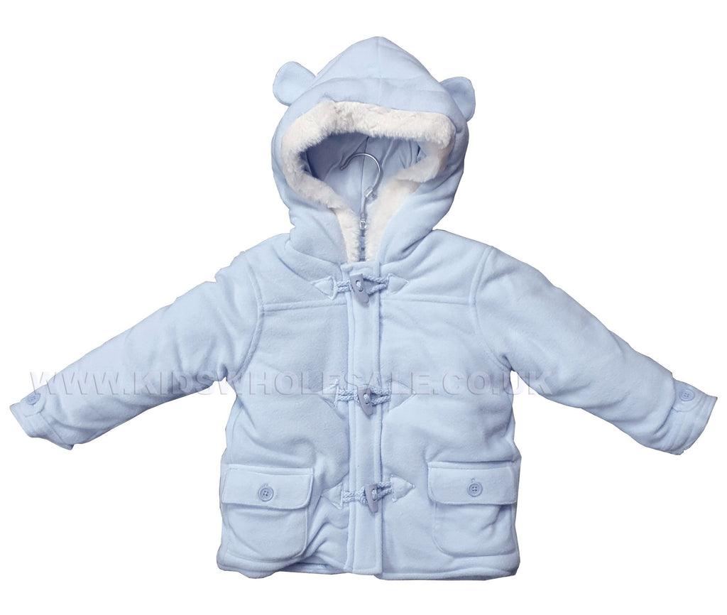 Baby Boys Duffle Coat - Blue - 0-12M (Q17102)