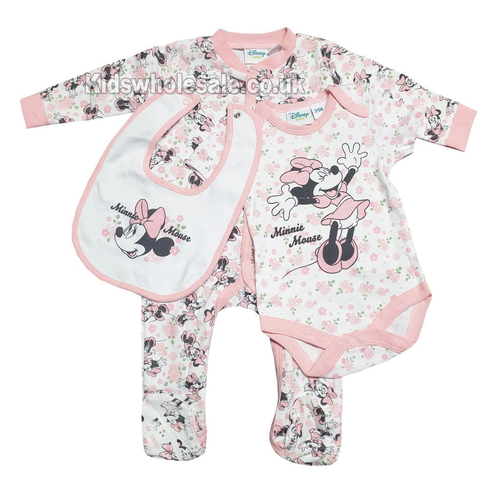 Official Disney Minnie Mouse 3pc Gift Set - NB-6M Q17934