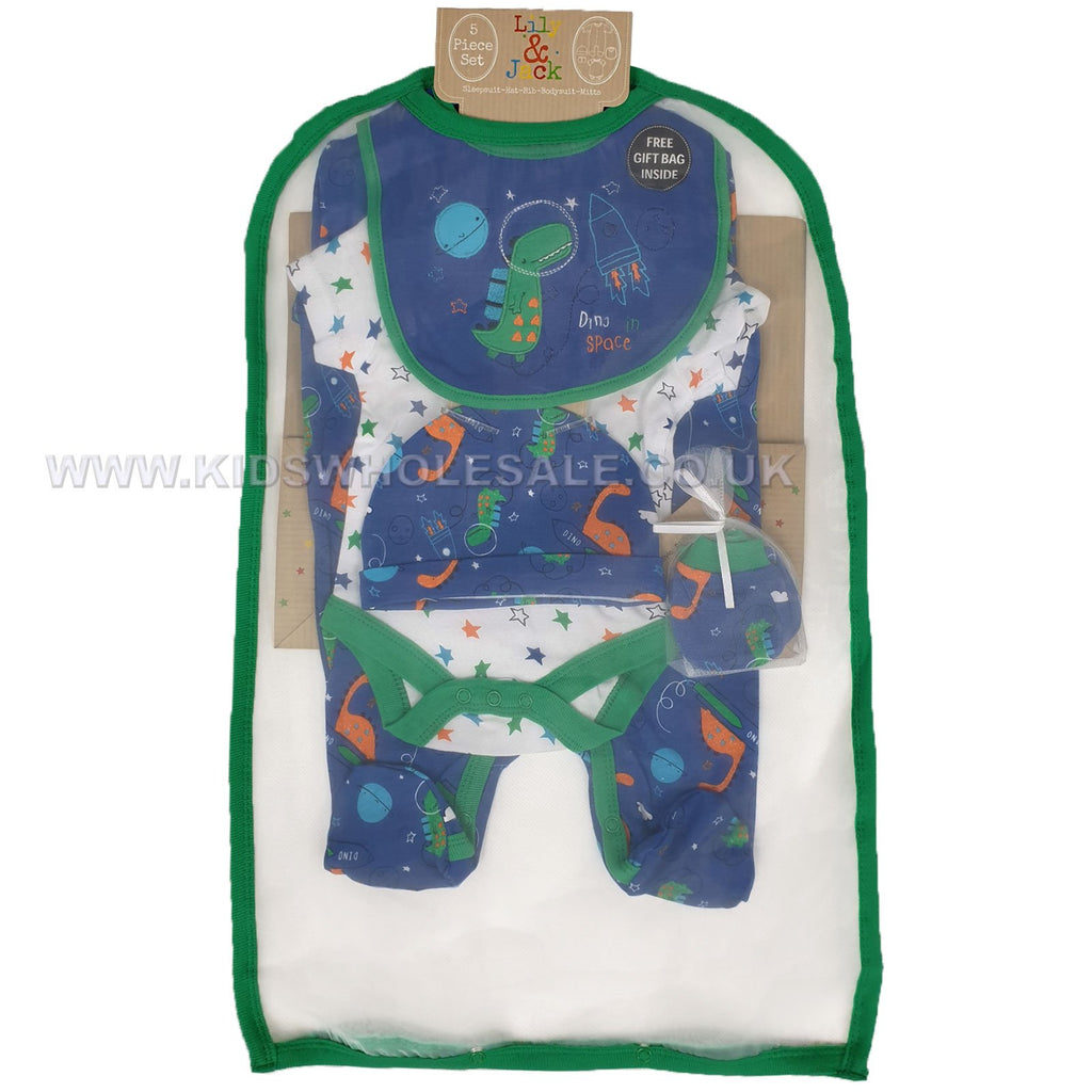 Baby Boys 6 Pcs Gift Set - Dino in Space - NB-6M (R17957)
