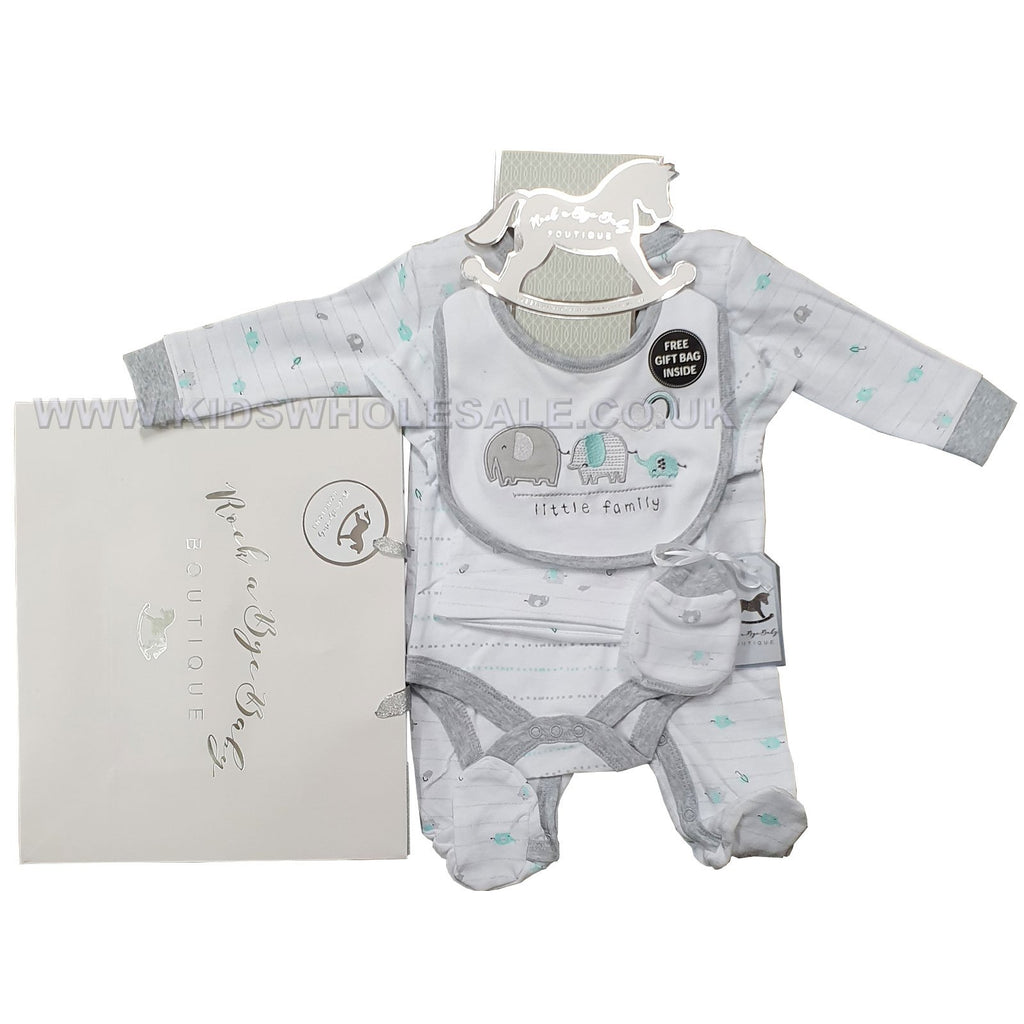 Baby Boys 6 Pcs Gift Set - Little Family - NB-6M (R17963)