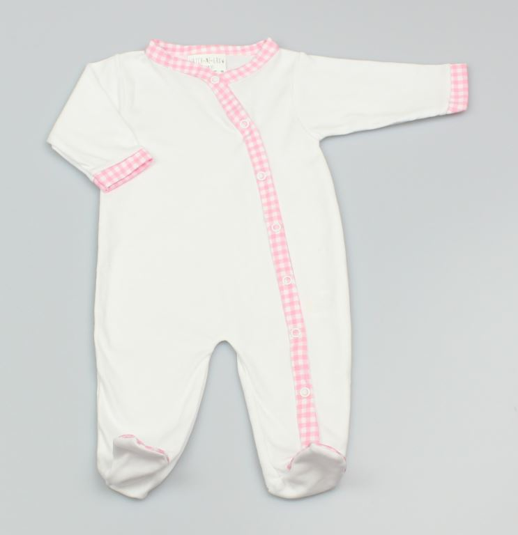 Baby Girls Plain Sleep Suit - Pink - (0-9 Months) M1535