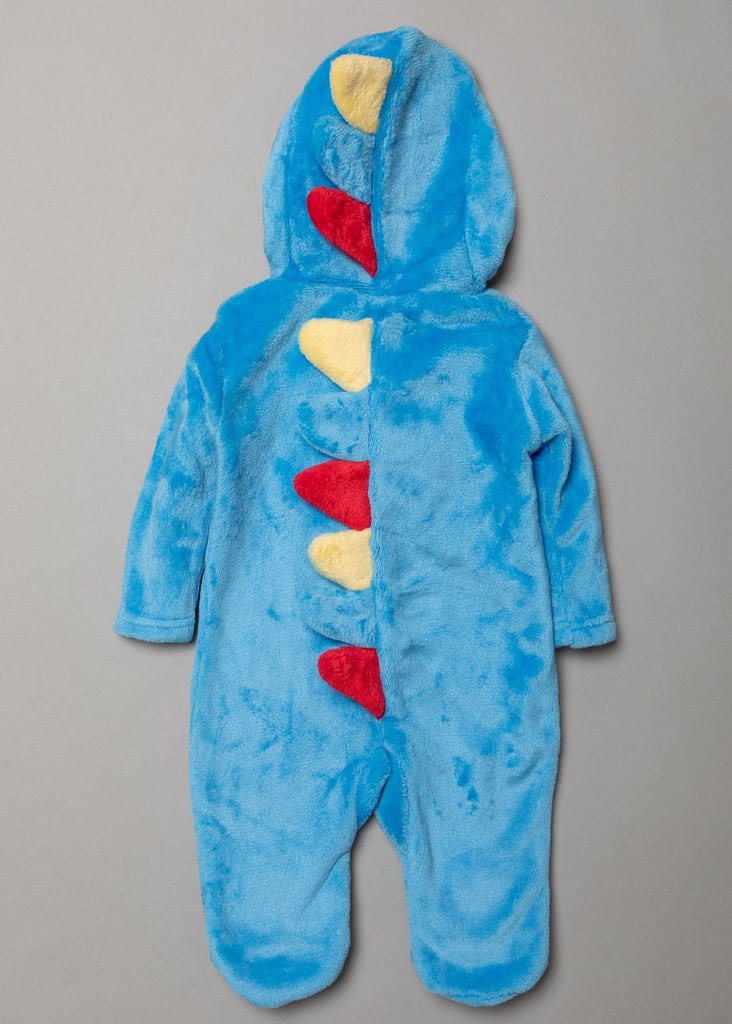 Boys Hooded Fleece Sleepsuit - Dino (0-12Months) S18953