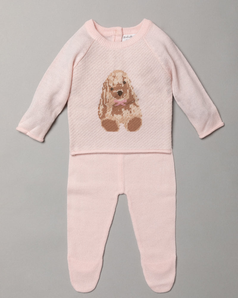 Girls 2pc Knitted set - Rabbit (0-9months) S19515 - Kidswholesale.co.uk